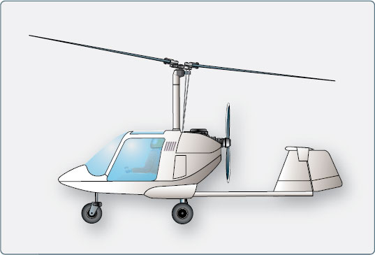 Large autogyro. Configurations of rotary wing