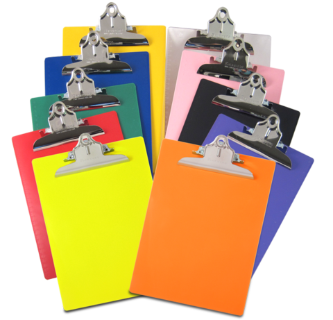 Transparent clipboard hard plastic. Saunders recycled letter a