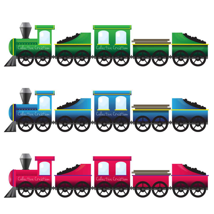 Green train. Clipart free large images