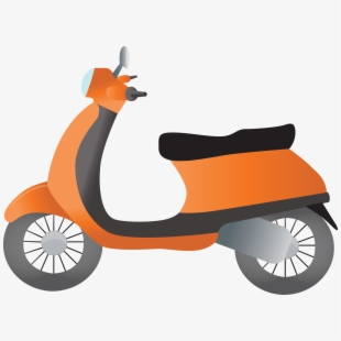 Large scooter. Free clipart cliparts silhouettes