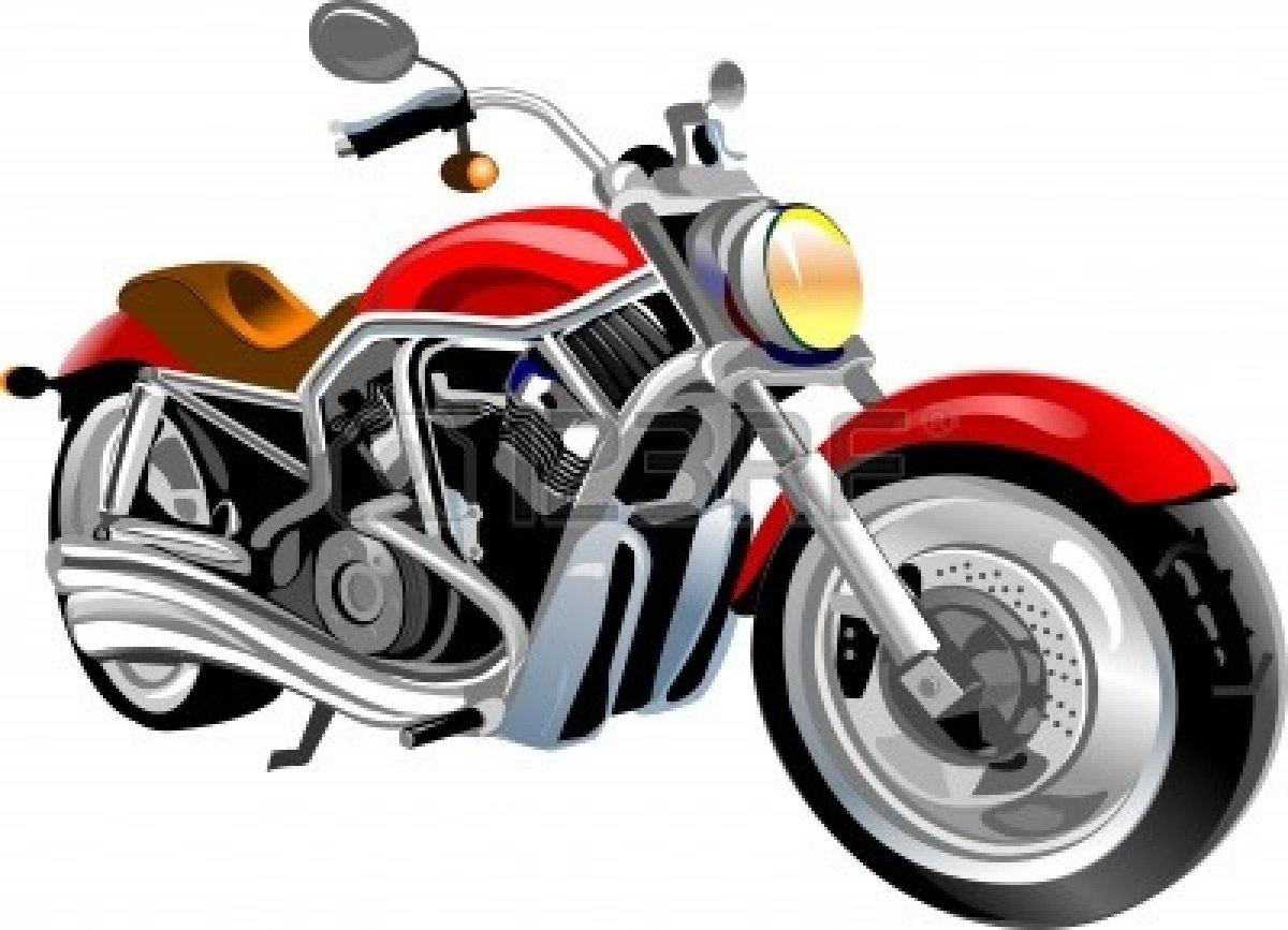 Red motorcycle. Free images download clip