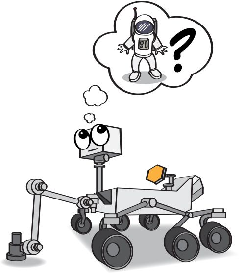 Large rover. A cartoon illustration of