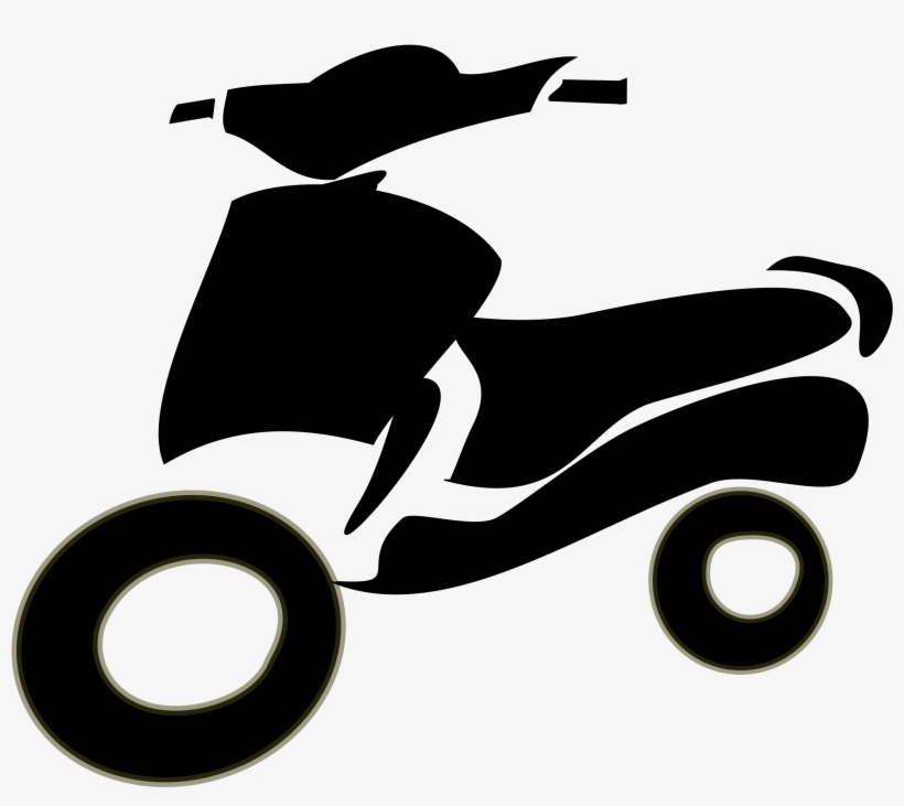 Large scooter. Clip art library big