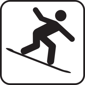 Large snowboard. Free cliparts download clip