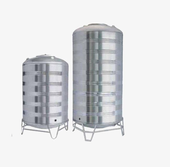 Large tank. Stainless steel water product