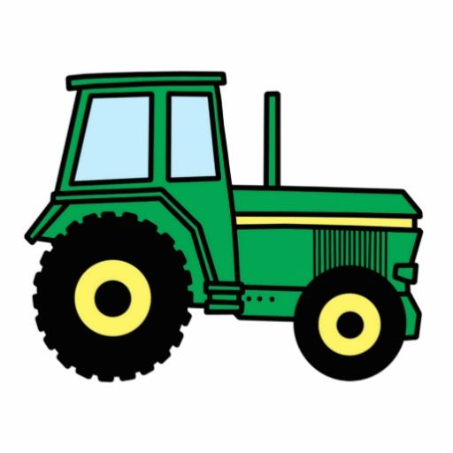 Large tractor. Cartoon clip art with