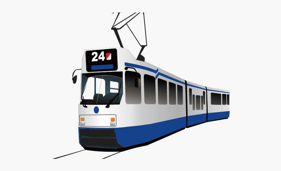 Large tram. Download for free png