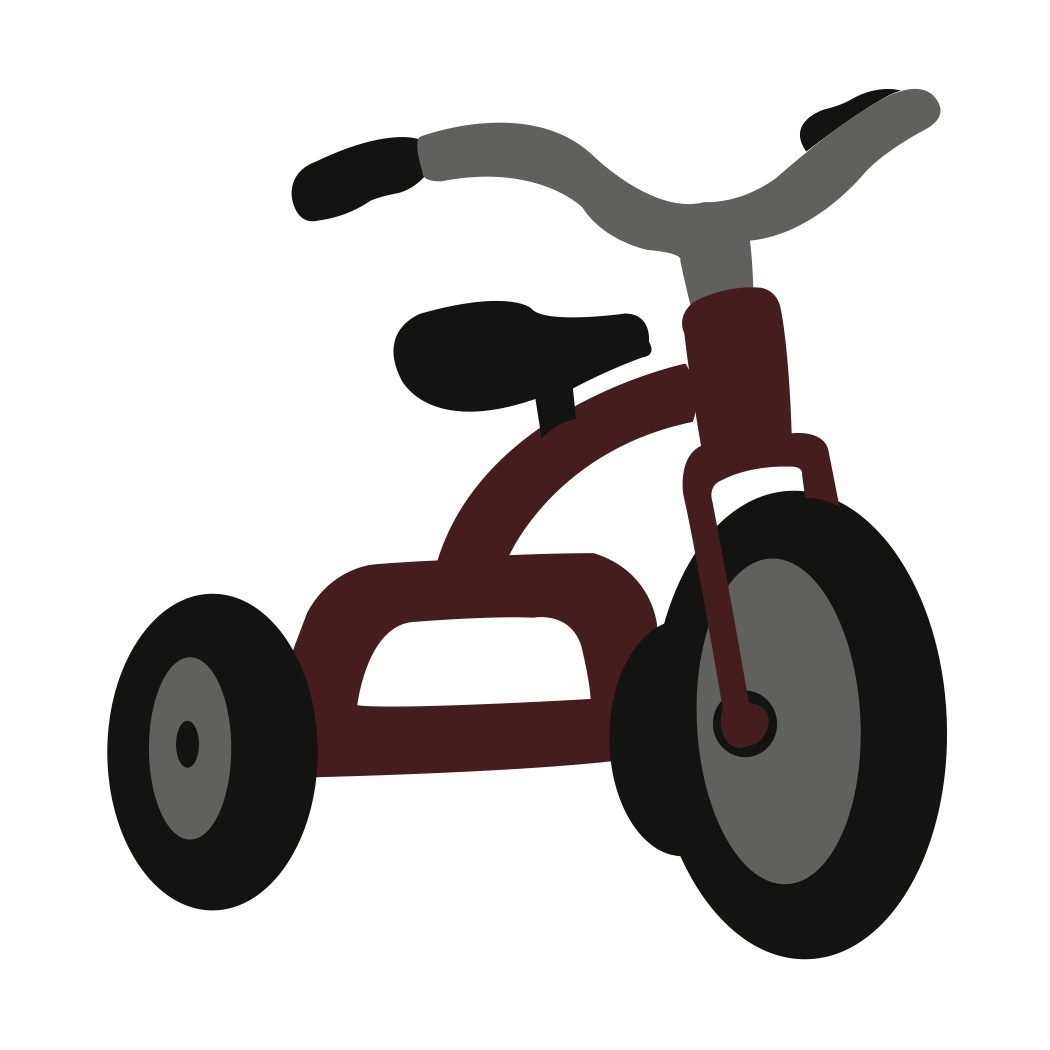Brown tricycle
