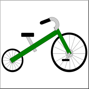 Large tricycle. Clip art basic shapes