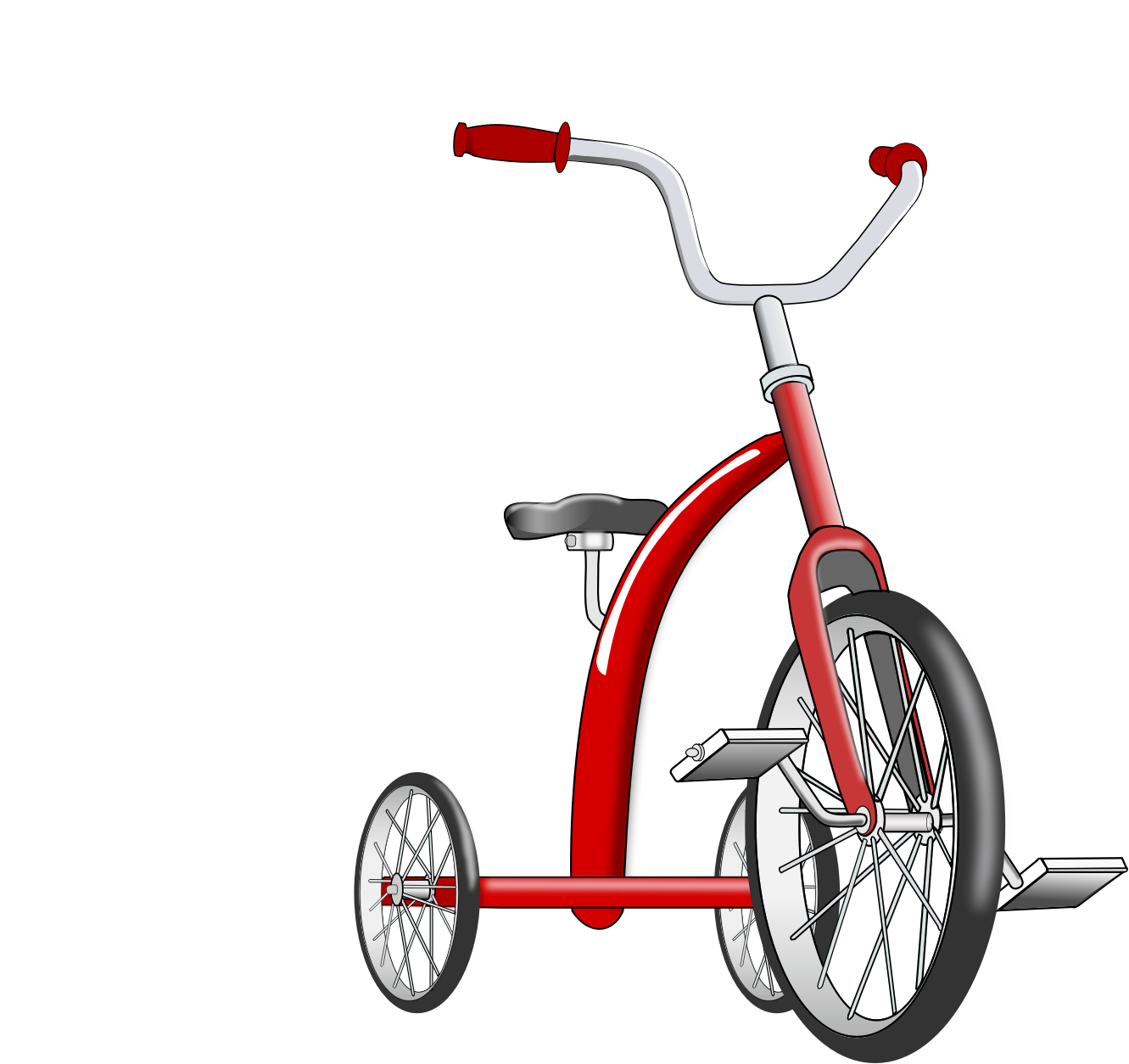 Large tricycle. Hd big image clipart