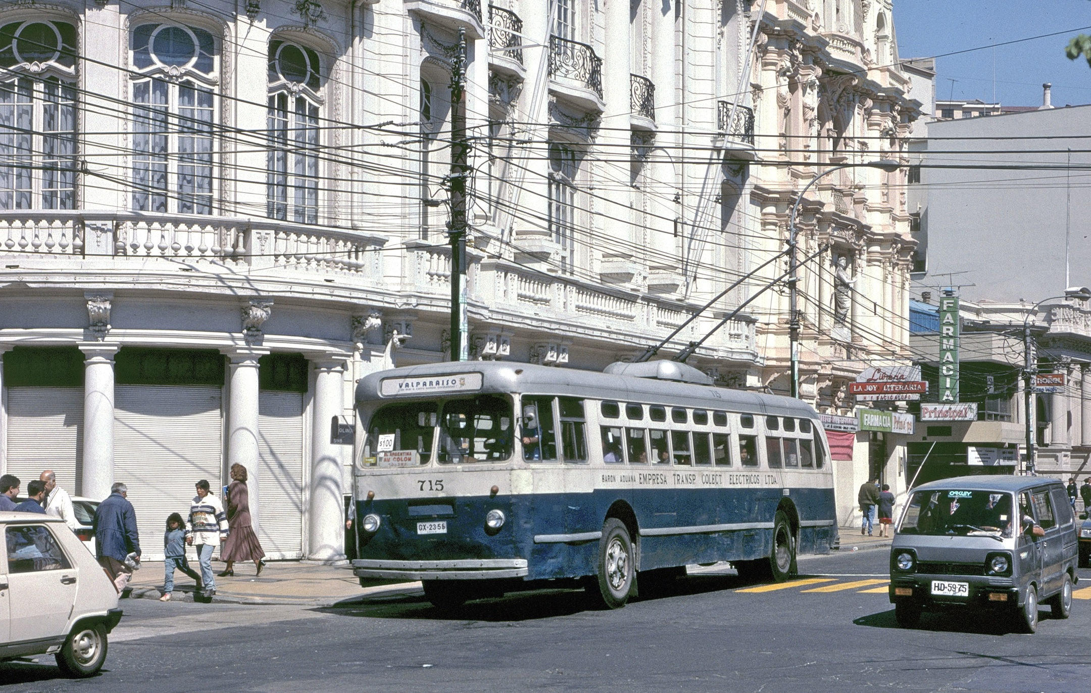 Large trolleybus. Trolleybuses in valpara so