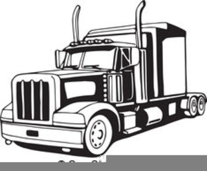 Large truck. Semi vector clipart free