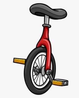 Large unicycle. Free clip art with