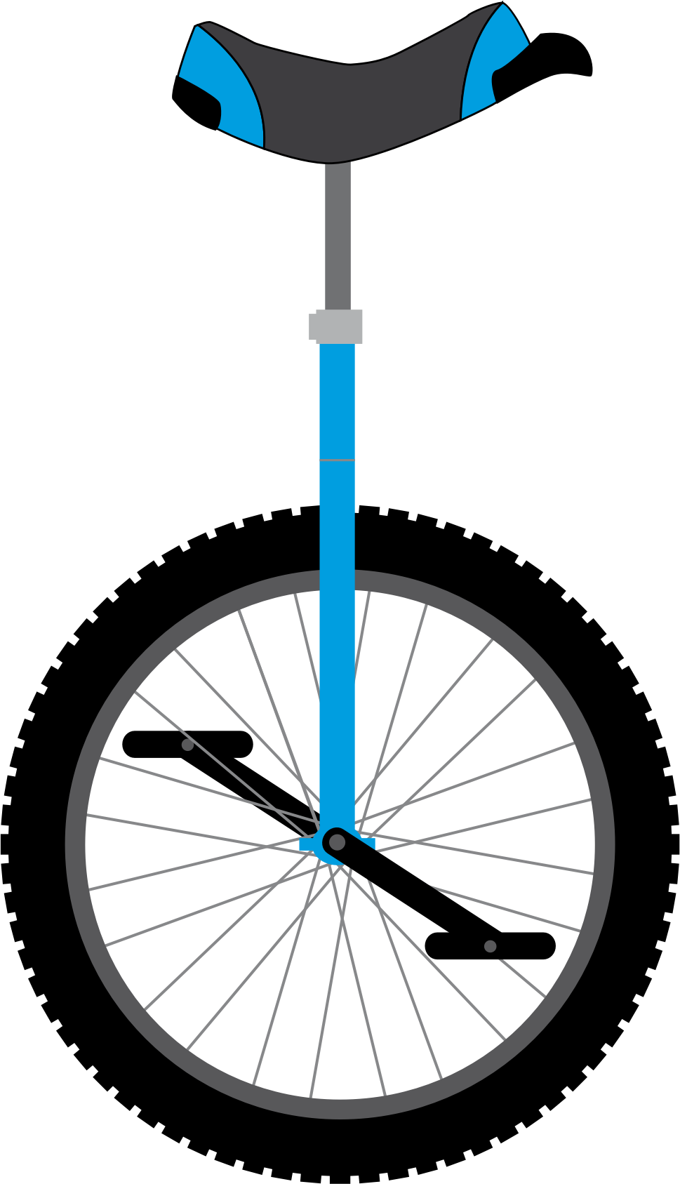 Large unicycle. Vector clipart image free