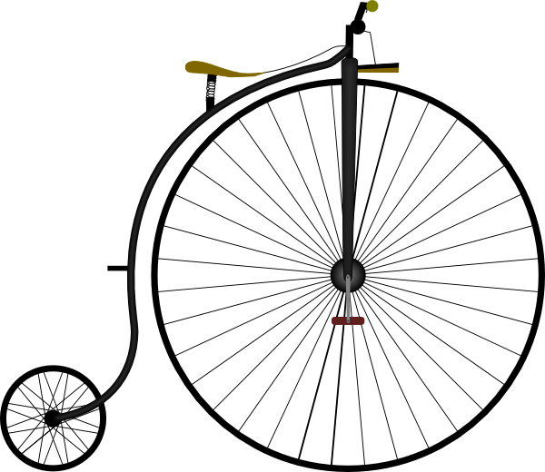 Large unicycle. Clip art vector clipart