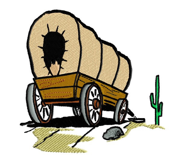 Yellow wagon. Free covered clipart download