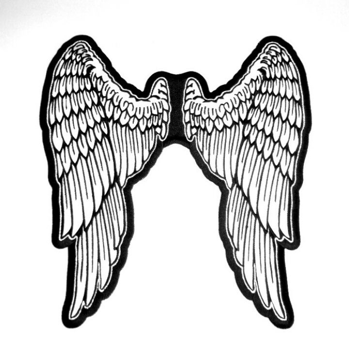 Wings Patch blank. Large angel wing back