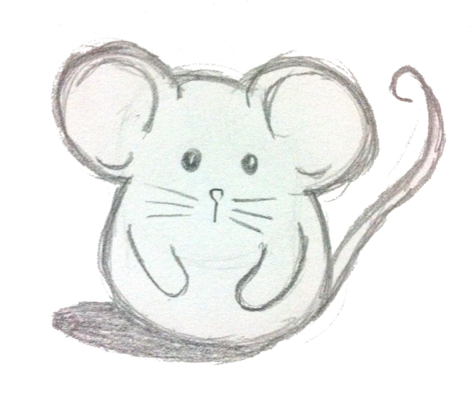 Larry drawing. The mouse hello by