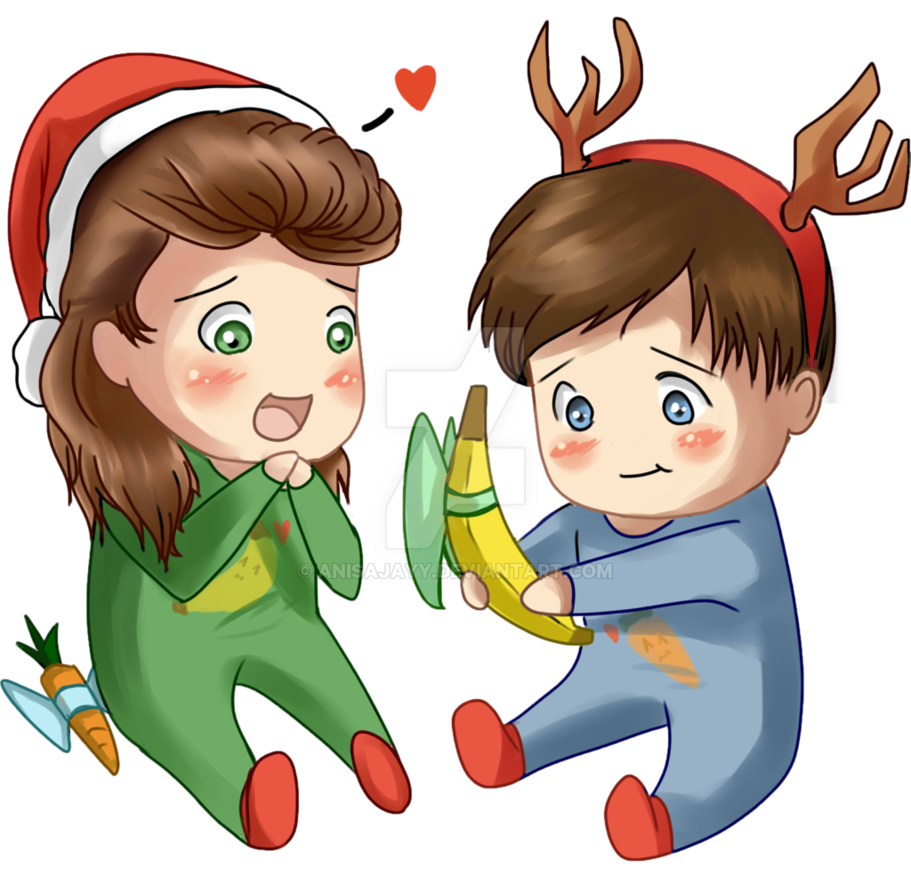 Larry drawing lilo. Merry christmas by anisajayy