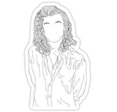 Larry drawing outline. Harry styles sticker my