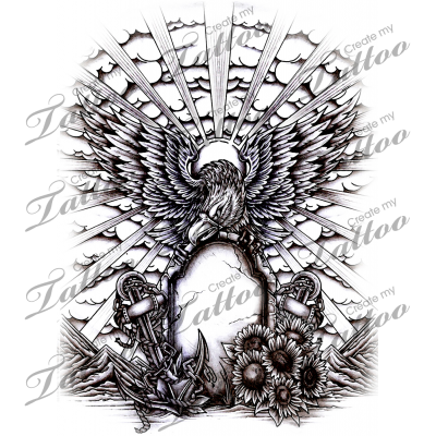 Marketplace eagle memorial createmytattoo. Larry drawing tattoo jpg free library