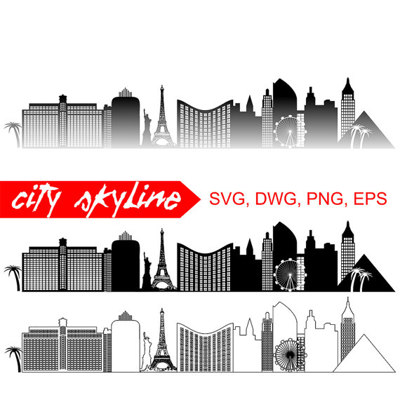 Las vegas clipart strong skyline. Silhouette at getdrawings com
