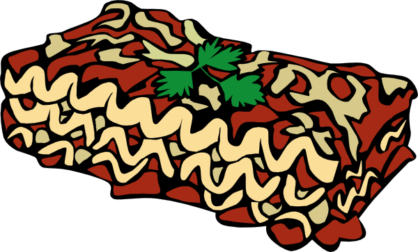 Lasagna drawing. Clip art at clker