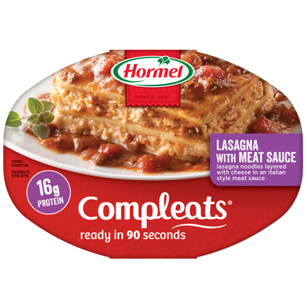 Lasagna drawing food ingredient. Hormel products compleats hormelsupsup