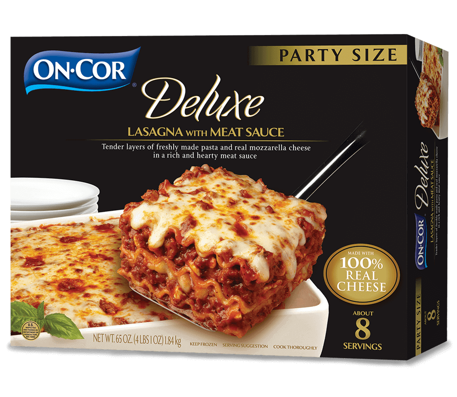 Lasagna drawing food ingredient. On cor party size