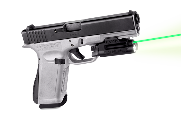 Laser gun png. Green spartan light