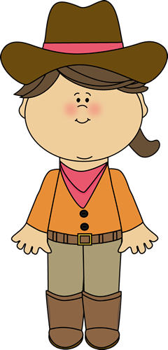Western clipart child. Cowgirl printables for kids