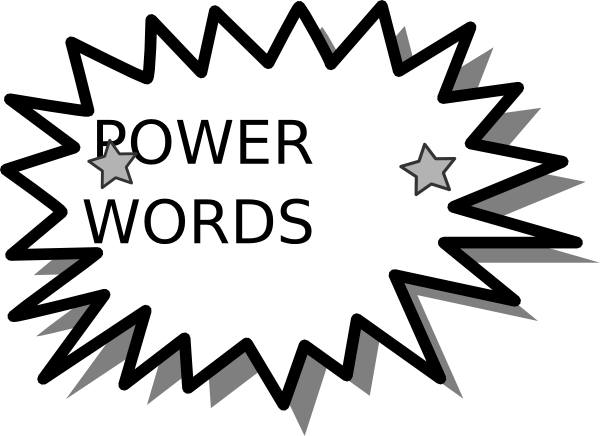 Last of clipart wordcard. Power word card clip