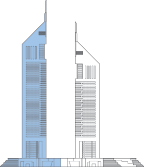 Latest drawing skyscraper. Emirates tower one the