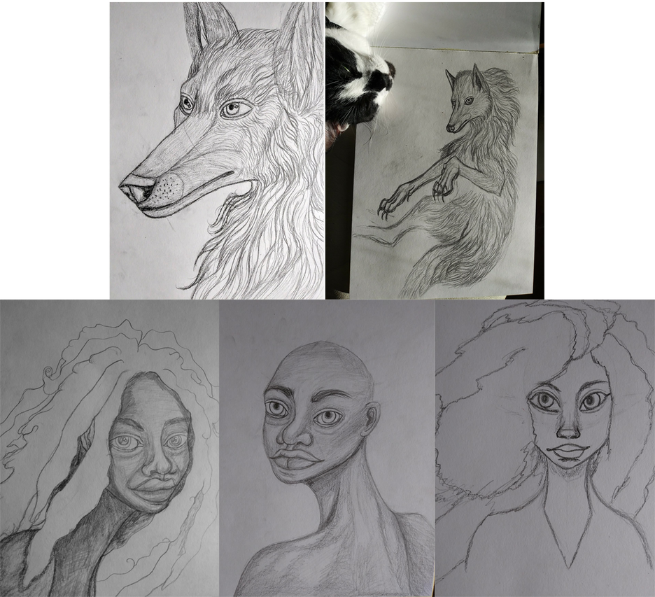 Latest drawing visual art. Sketches by vethysnia on