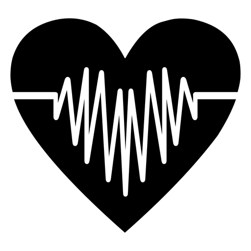 Heart with heartbeat png. Logotipo del coraz n