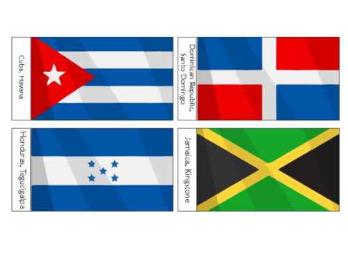 Latin america flags png. North american printables for