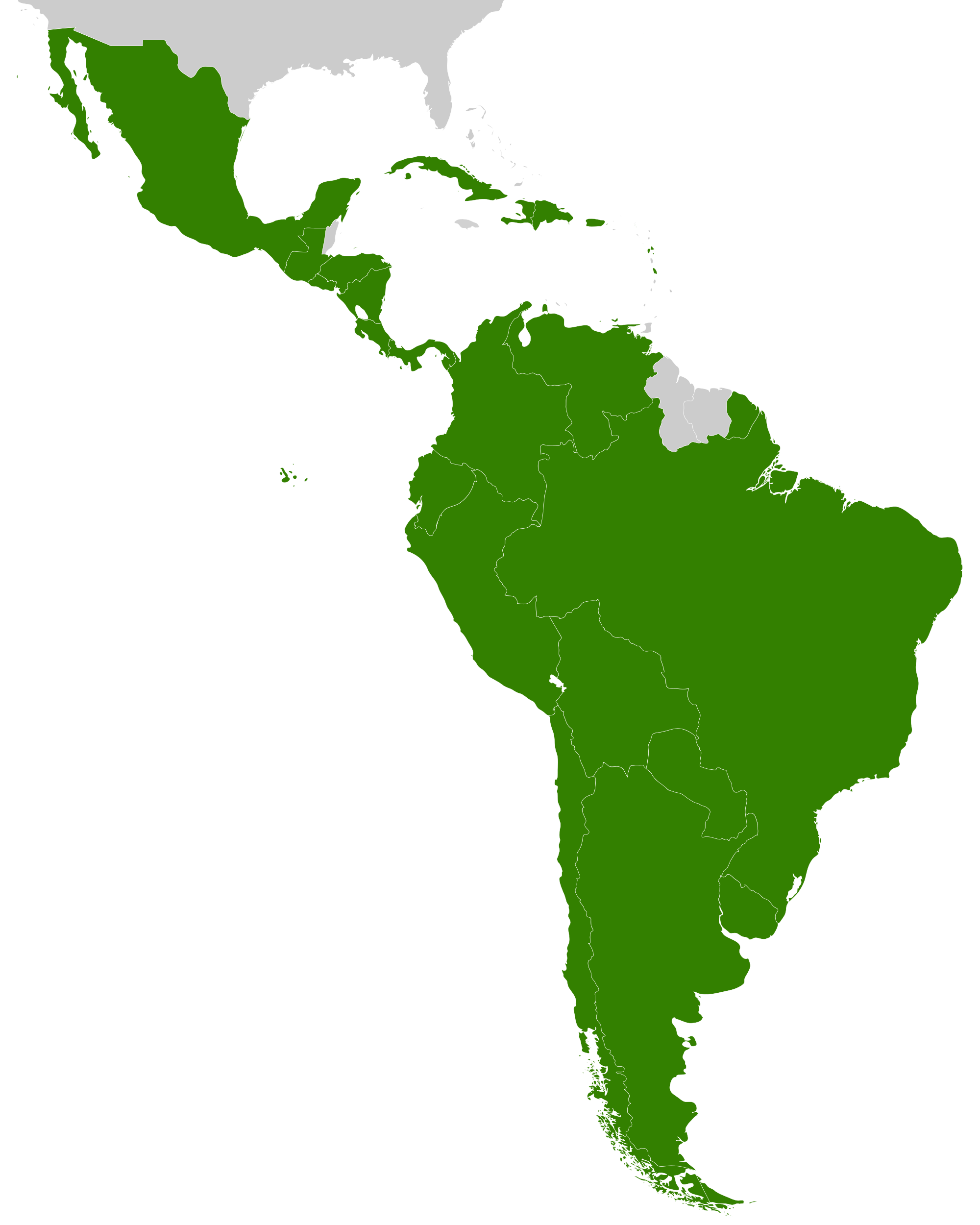 south america outline png