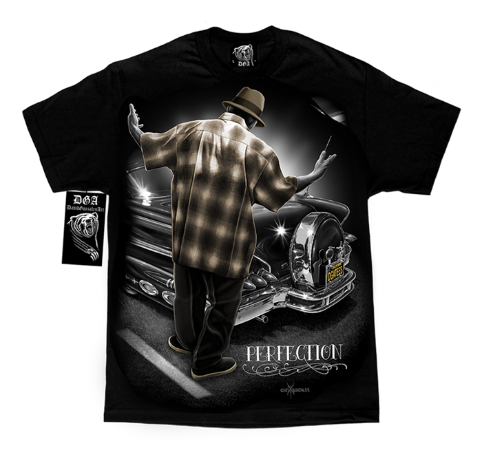 Drawing movie lowrider. Men shirts mi vida