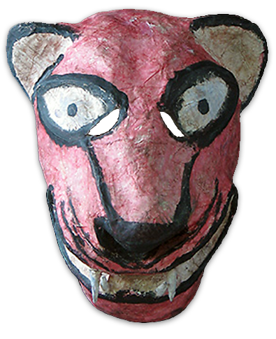 Latino drawing mask. Mexican masks pharisee