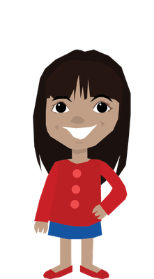 Latino drawing plain girl. Collection of clipart