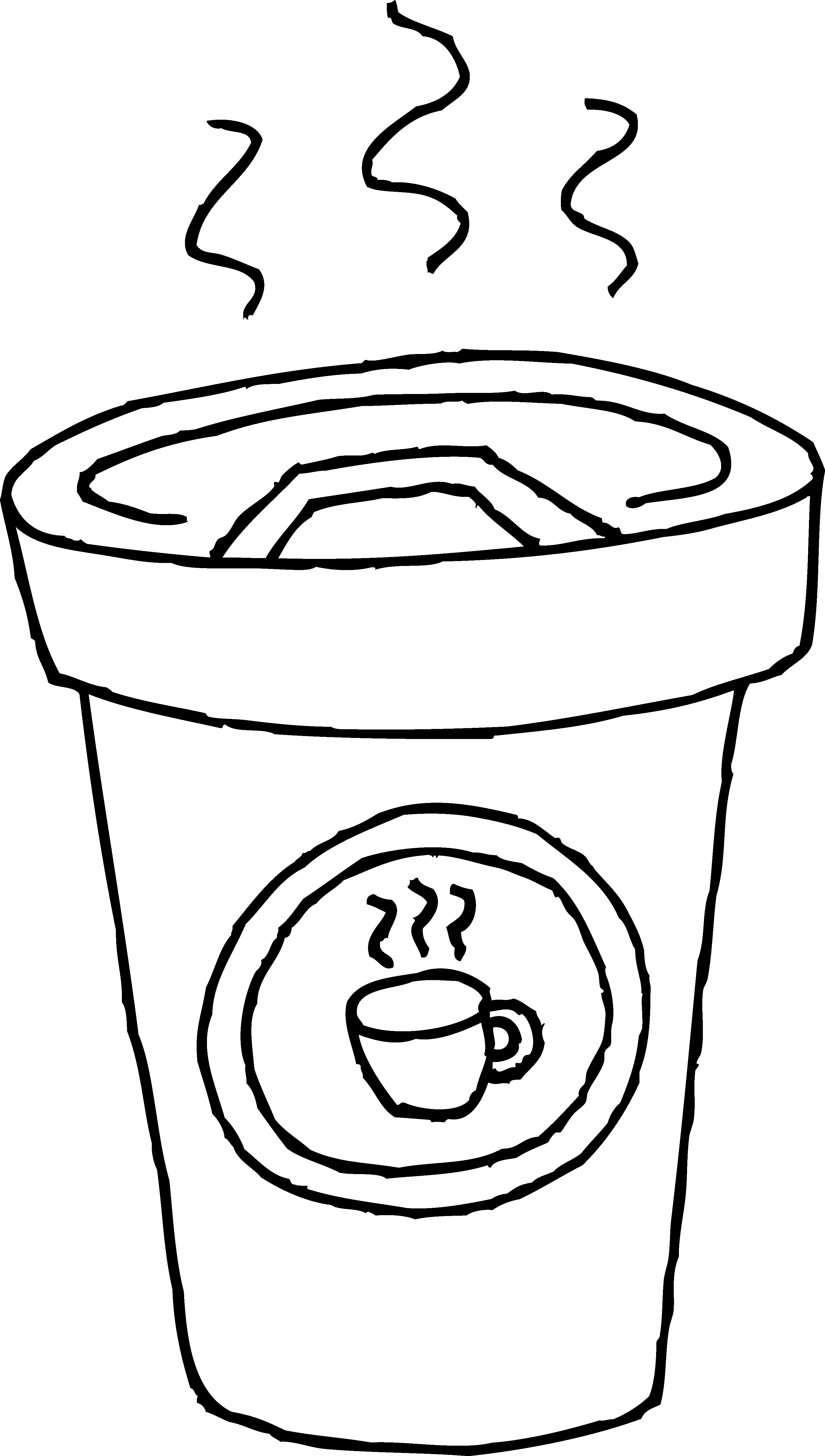 Latte clipart coffee drawing. Cup of coloring page