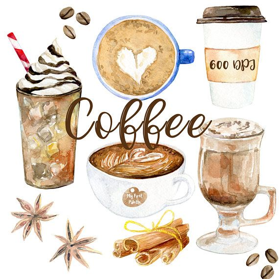 Latte clipart hot drink. Watercolor coffee dpi png