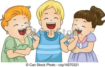 Little kids illustration of. Laughing clipart royalty free library