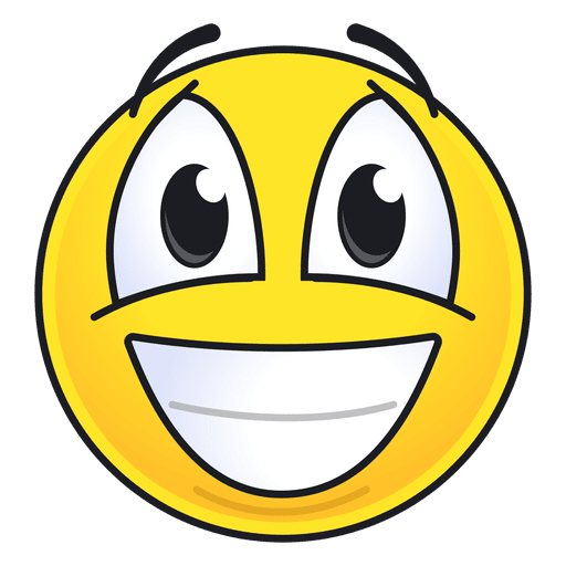 Laughing face emoji png. Cute emoticon transparent svg