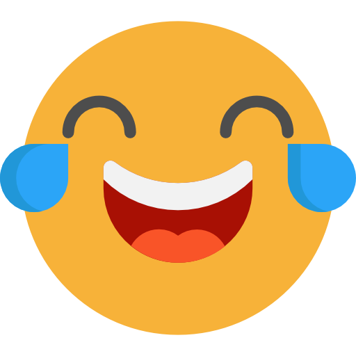 Laughing face emoji png. Emoticons feelings smileys icon