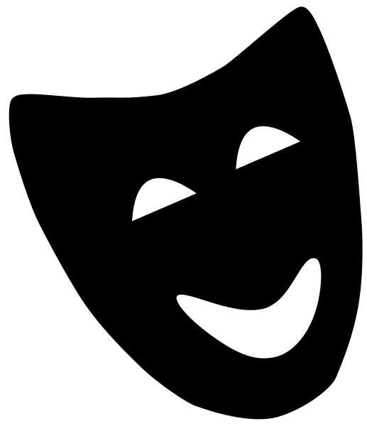 File comedyicon svg wikipedia. Theater vector laughing mask graphic library