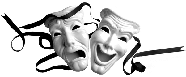 Laughing mask png. In modern theatre where