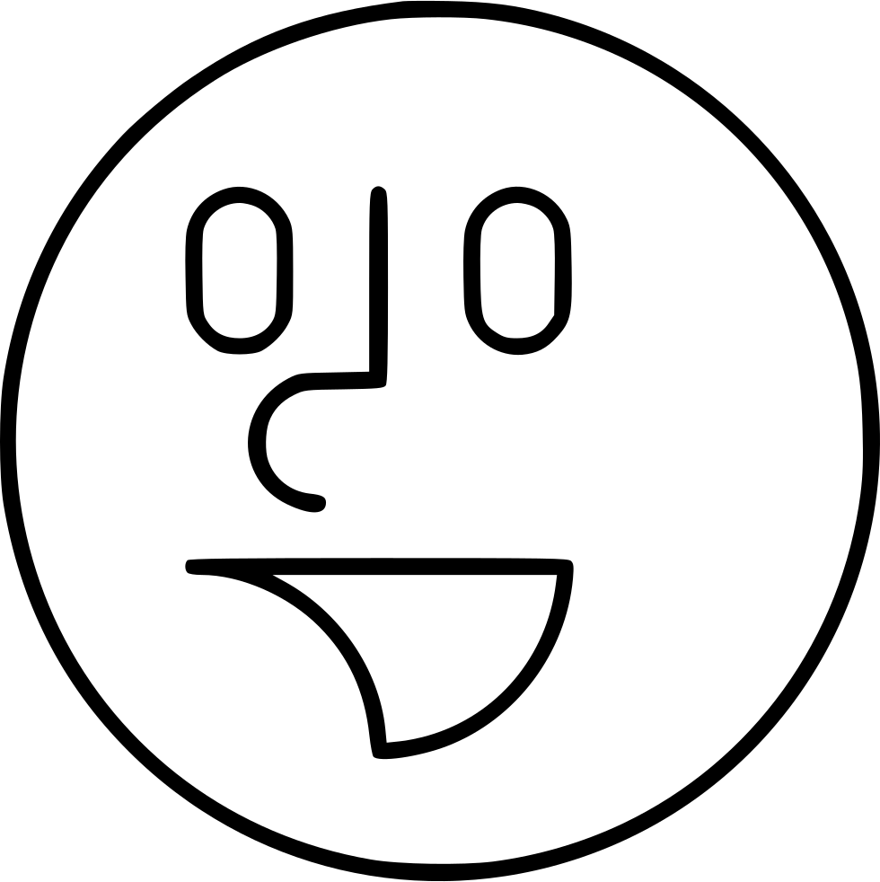 Laughter drawing. Smile svg png icon