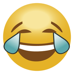 Lol meme face transparent. Open eye crying laughing emoji png banner library
