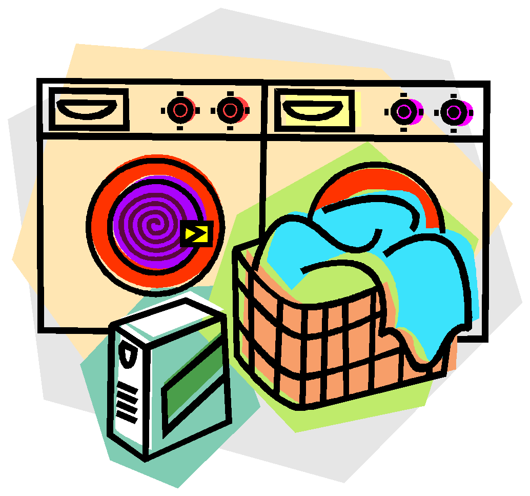 man clipart laundry